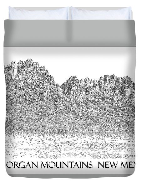 The Organ Mountains Duvet Cover by Jack Pumphrey