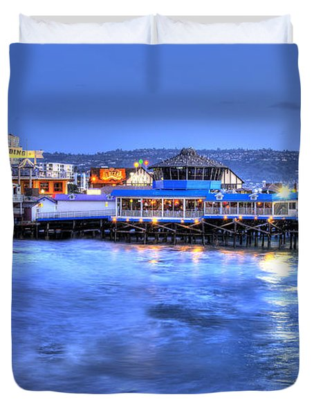 Redondo Landing At Night Duvet Cover