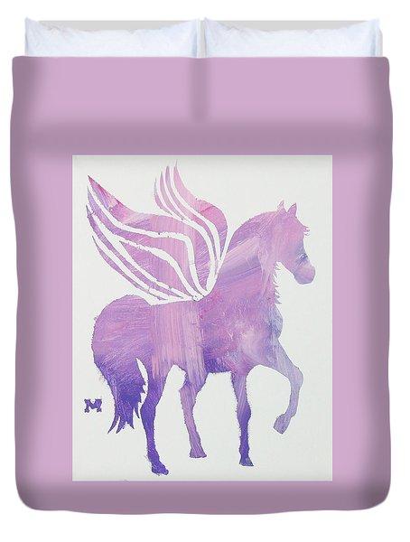 The Pink Pegasus Duvet Cover