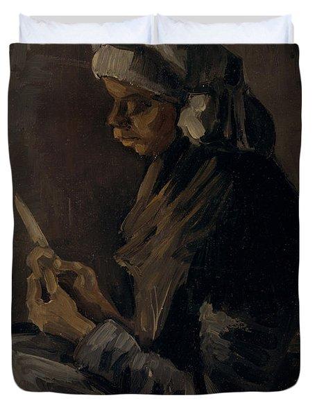 The Potato Peeler, 1885 Duvet Cover
