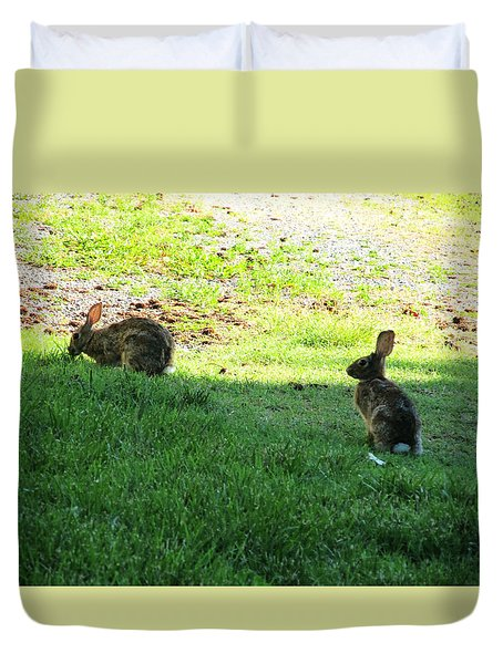 The Rabbit Dance Duvet Cover