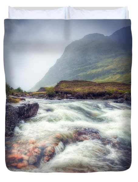 The River Coe Duvet Cover by Ray Devlin