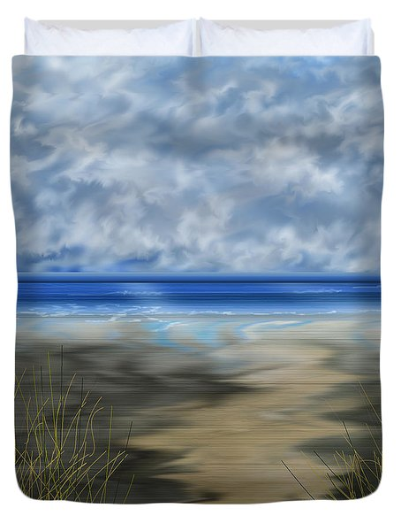 The Road Less Travelled Duvet Cover by Anne Norskog