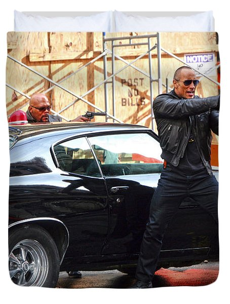The Rock Dwayne Johnson On The Set Of The Other Guys Duvet Cover