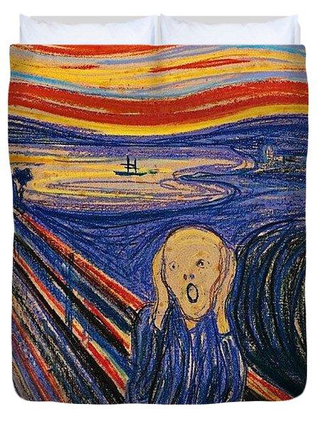 The Scream Ver 1895 Edvard Munch Duvet Cover