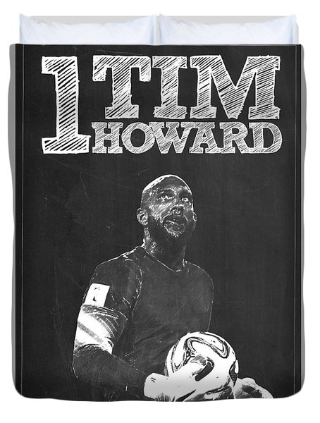 Tim Howard Duvet Cover by Semih Yurdabak