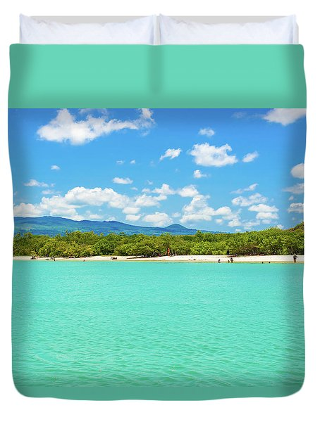 Tortuga Bay Beach At Santa Cruz Island In Galapagos  Duvet Cover