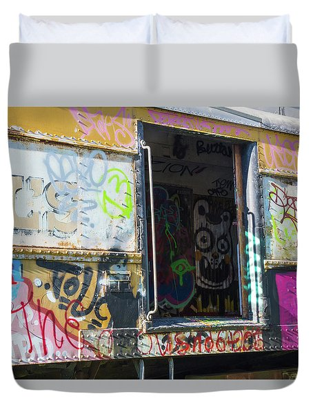Duvet Cover featuring the photograph Train Art by Dart and Suze Humeston
