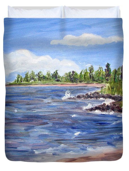 Trixies Cove Duvet Cover by Clara Sue Beym