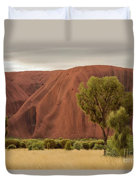 Duvet Cover featuring the photograph Uluru 08 by Werner Padarin