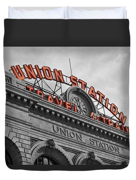 Union Station - Denver  Duvet Cover by Mountain Dreams