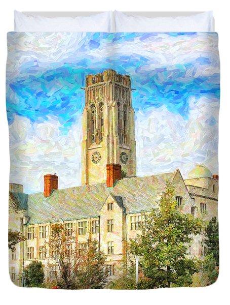 University Hall Duvet Cover