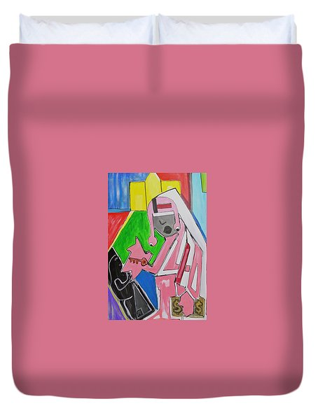 Duvet Cover featuring the painting Untitled by Jose Rojas
