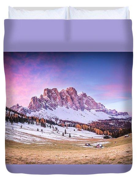 Val Di Funes, Italy Duvet Cover