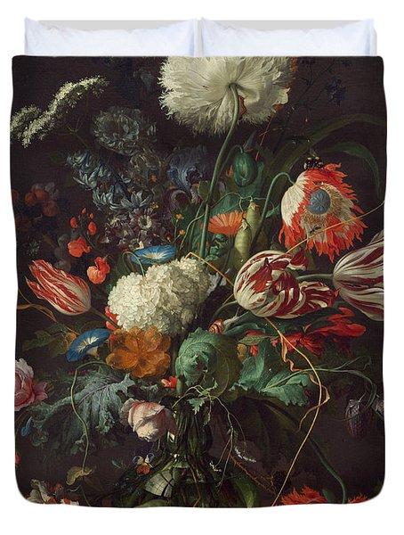 Vase Of Flowers Duvet Cover