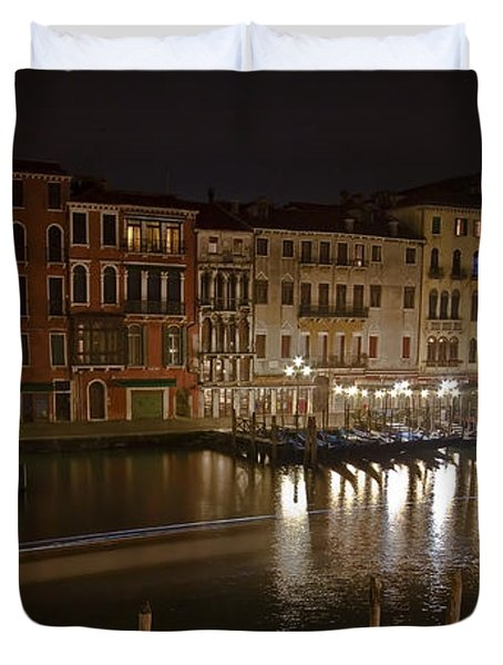 Venice By Night Duvet Cover by Joana Kruse