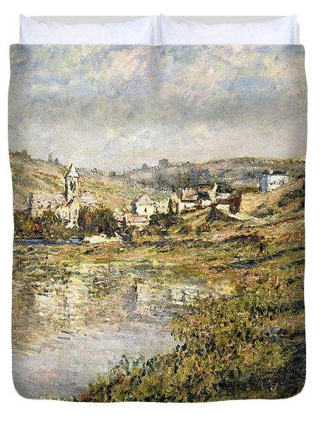 Vetheuil Duvet Cover by Claude Monet