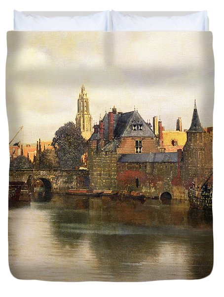 View Of Delft Duvet Cover by Jan Vermeer