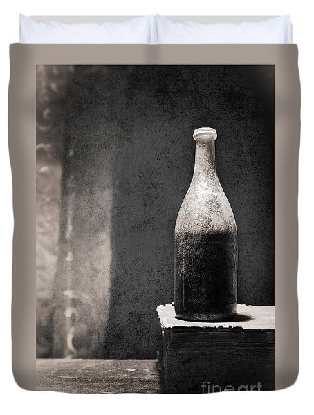 Vintage Beer Bottle Duvet Cover by Andrey  Godyaykin