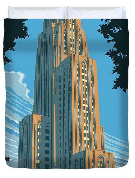 Pittsburgh Poster - Vintage Style Duvet Cover