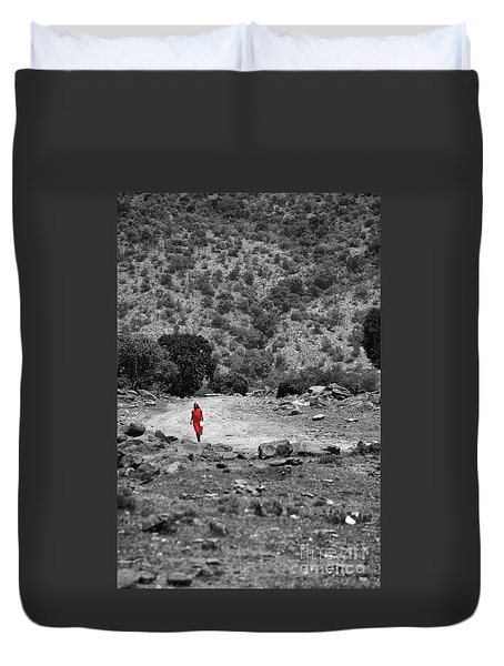 Duvet Cover featuring the photograph Walk  by Charuhas Images