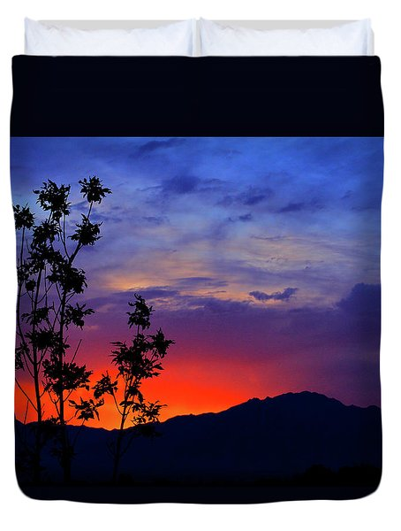 Wasatch Sunrise Duvet Cover