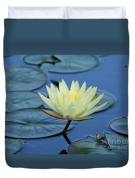 Duvet Cover featuring the photograph Water Lily by Lisa L Silva