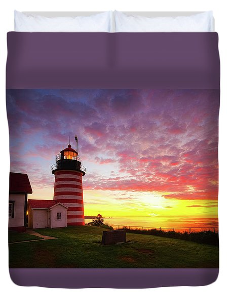 West Quoddy Head Light Duvet Cover