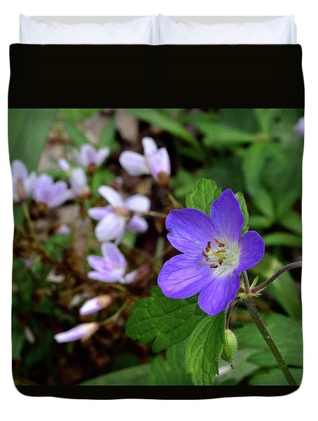 Wild Geranium Duvet Cover by Tim Good