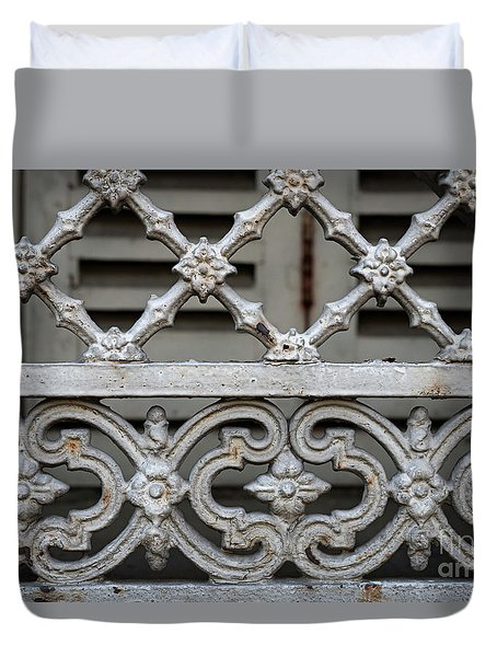 Duvet Cover featuring the photograph Window Grill In Toulouse by Elena Elisseeva