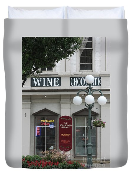 Wine And Chocolate Duvet Cover