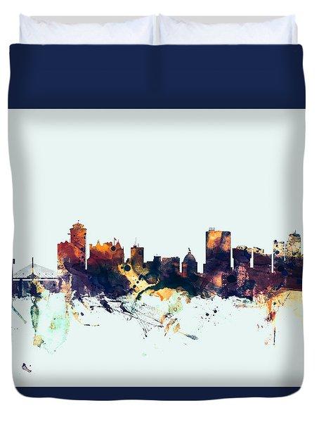 Winnipeg Canada Skyline Duvet Cover
