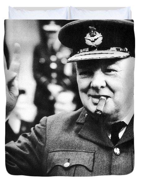 Winston Churchill Duvet Cover