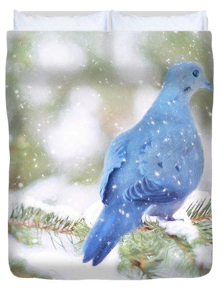 Winter Birds Duvet Cover
