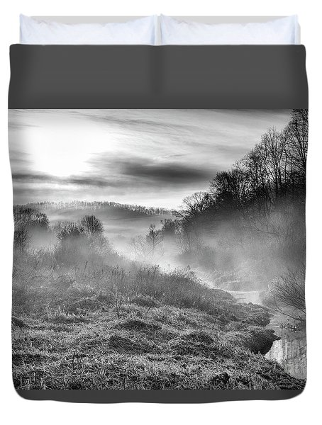 Duvet Cover featuring the photograph Winter Mist by Thomas R Fletcher