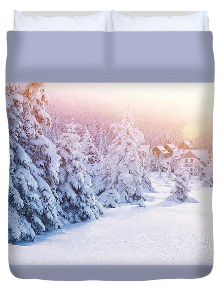 Winter Resort Duvet Cover