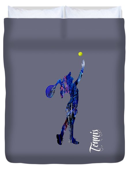Womens Tennis Collection Duvet Cover by Marvin Blaine