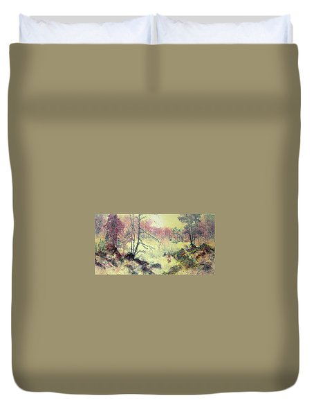 Woods And Wetlands Duvet Cover by Carolyn Rosenberger