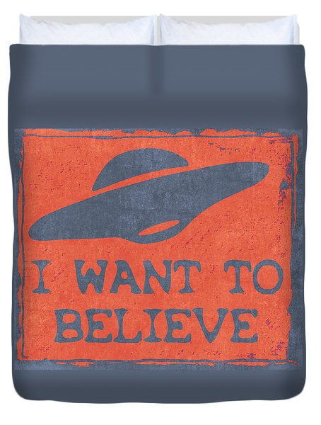 X Files I Want To Believe Duvet Cover by Kyle West