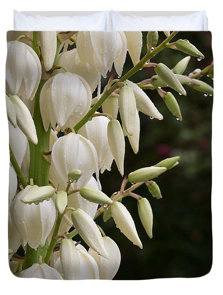 Yucca Plant In Bloom Duvet Cover