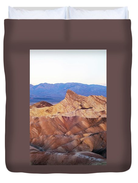 Duvet Cover featuring the photograph Zabriskie Point by Catherine Lau