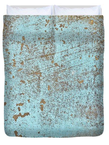 Blue Metal Duvet Cover