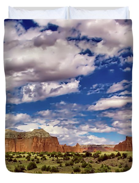 Capitol Reef National Park Catherdal Valley Duvet Cover
