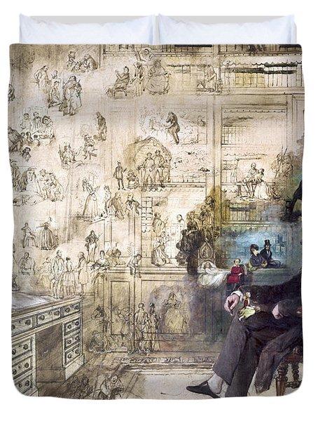 Charles Dickens (1812-1870) Duvet Cover