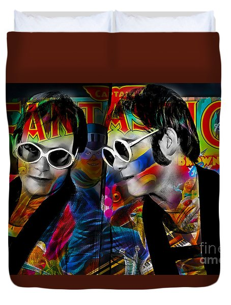 Elton John Collection Duvet Cover by Marvin Blaine