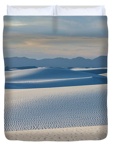 The Unique And Beautiful White Sands National Monument In New Mexico. Duvet Cover