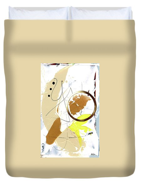 Three Color Palette Duvet Cover by Michal Mitak Mahgerefteh