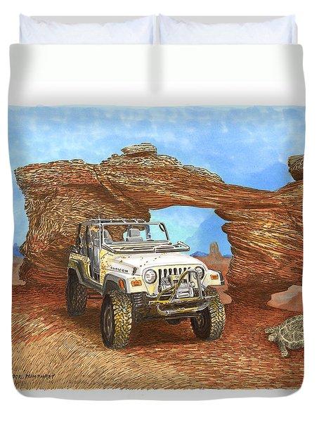 2005 Jeep Rubicon 4 Wheeler Duvet Cover by Jack Pumphrey