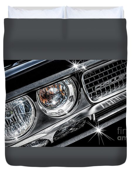 Duvet Cover featuring the photograph 2009 Dodge Challenger by Brad Allen Fine Art