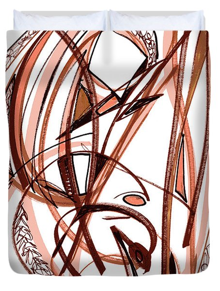 2010 Abstract Drawing Five Duvet Cover